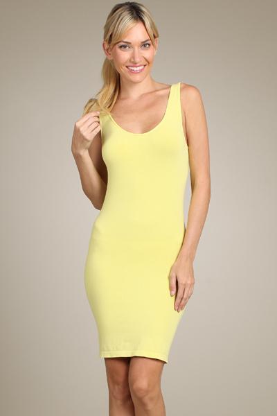 M-Rena Women's Scoop Neck Seamless Layering Tank Dress