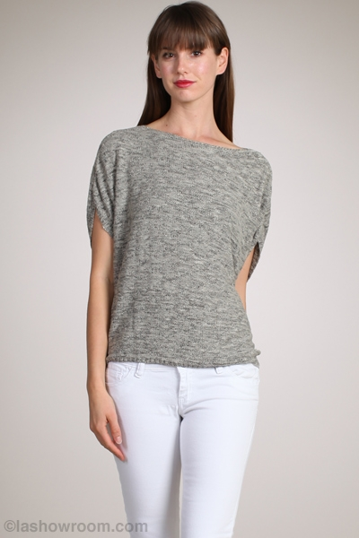 M-Rena Relaxed Jersey Boat Neckline Knit Top