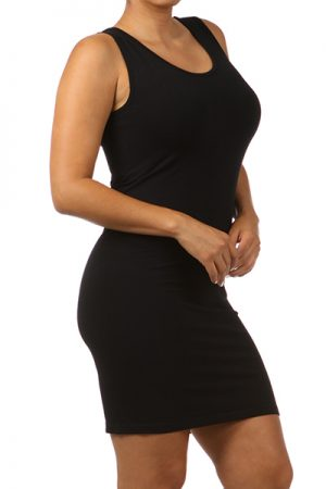 M-Rena Plus Size Seamless Scoopneck Layering Tank Dress