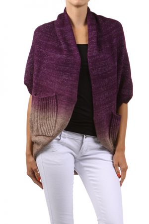 M-Rena Open Ombre Cardigan With Pockets
