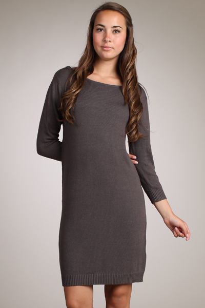 M-Rena Classic Boat Neck Sweater Dress