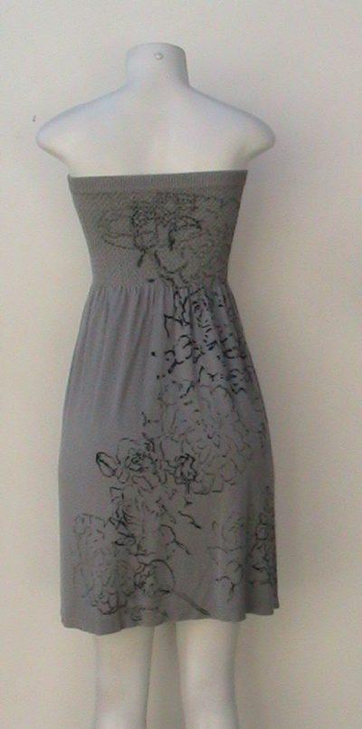 M-Rena Hand Print Babydoll Tube Dress