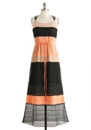 C. Luce Colour Block Sleeveless Maxy Dress