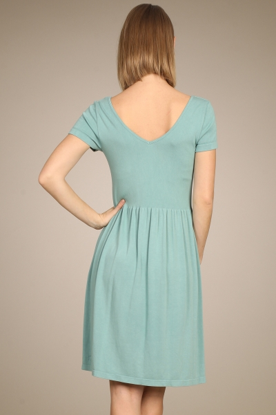 M-Rena Reversible Cap Sleeve Ribbed Seamless Babydoll Dress