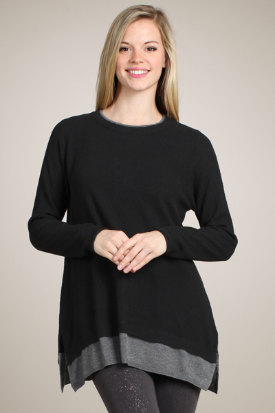 M-Rena Back Insert Long Sleeve Sweater Top