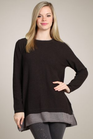M-Rena Back Insert Long Sleeve Sweater Top