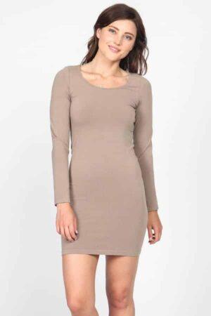 M. Rena Long Sleeve Scoop Neck Dress