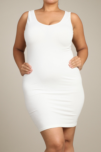 M-Rena Plus Size Seamless Reversible Tank Dress