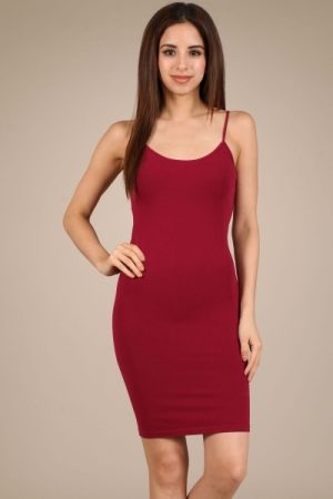 M-Rena Spaghetti-Strap Seamless Bodycon Cami Slip Dress