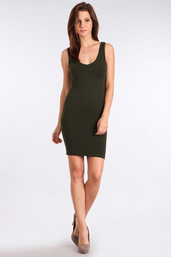 M-Rena Women s Scoop Neck Seamless Layering Tank DressBLACKM. Rena Scoop V-  · M-Rena Reversible Seamless Bodycon Layering Tank Mini Dress 0552646e0