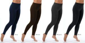 M-Rena Women's Affordable Full Length Seamless Rayon Leggings