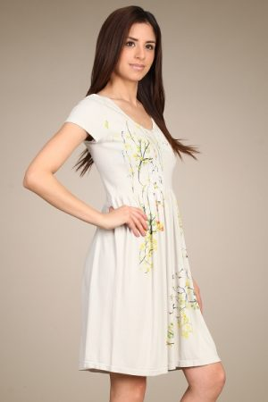 M-Rena Cap Sleeve Floral Babydoll Dress