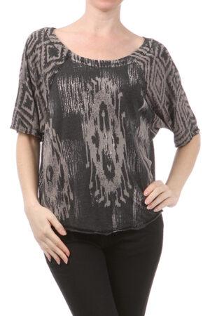 M-Rena Over Size Raglan Short Sleeve T-Shirt