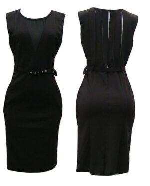 C. Luce Sexy Black Cocktail Dress