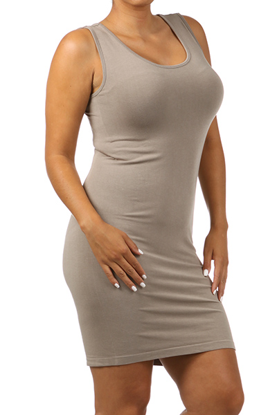 Taupe Plus Size Tank Dress