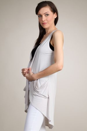 M-Rena Exaggerated High-Low Hem Vest