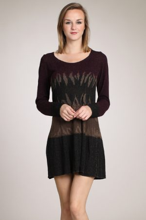 M-Rena Long Sleeve Sweater Tunic Dress