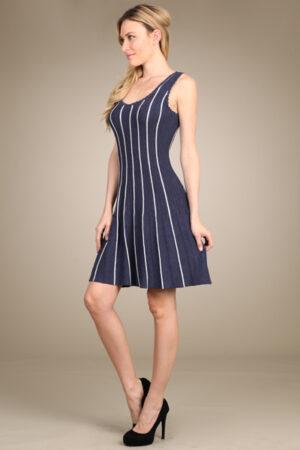 M-Rena Ribbed Scoop Neck Sweater Dress