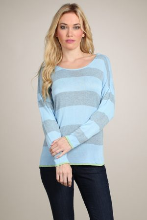 M-Rena Bold Stripes Light Weight Sweater Top