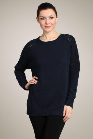 M-Rena Knitted Sweater with Crocheted Sleeves