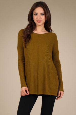 M-Rena Loose Fit Long Sleeve Tunic Top