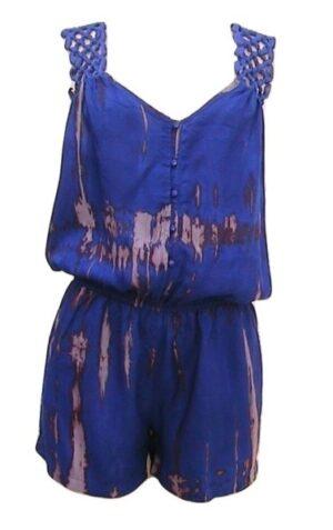 C.Luce Blue Tie Dye Sleeveless Romper