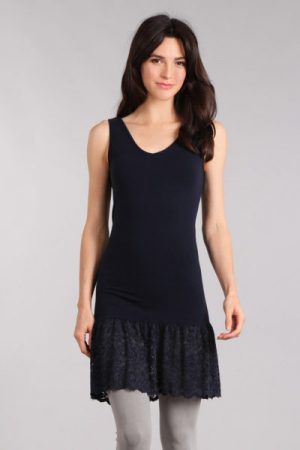 M-Rena Lace Trim Seamless Layering Tank Dress