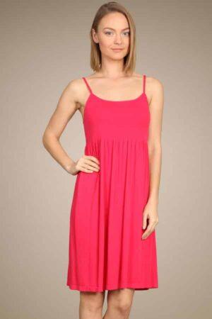 M.Rena Ribbed Seamless Babydoll Cami Dress
