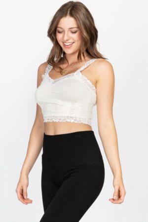 M. Rena Sexy Cropped Lace Corset Bralette