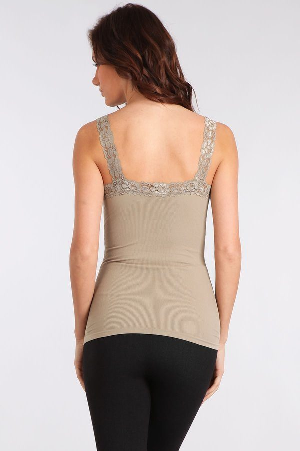 Seamless Lace Corset Camisole