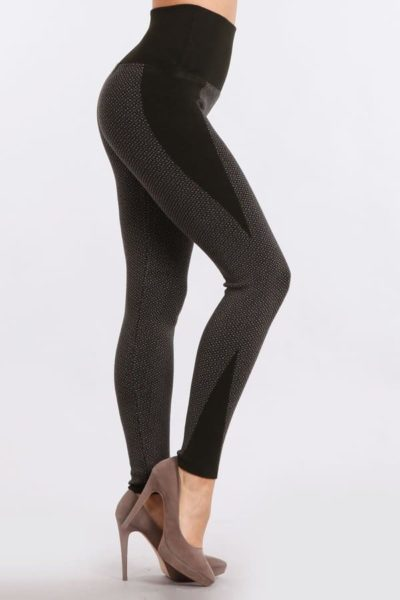 6b6ae5852ad985 Double Jacquard Sweater Legging with Triangle Contrast.