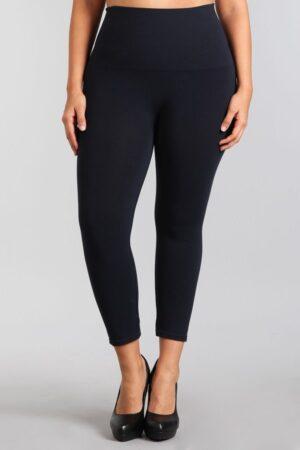 M. Rena Plus Size Tummy Control Cropped Rayon Leggings