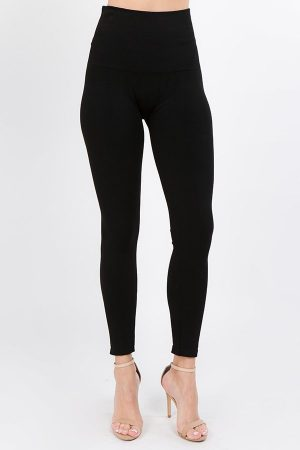 M. Rena Thick Double Knit Tummy Tuck Leggings