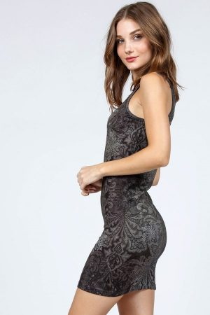 M. Rena Celeste Print Reversible Bodycon Dress