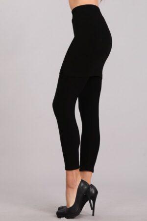M.Rena Capri Skirted Seamless Rayon Leggings