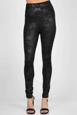 M. Rena Camo Faux Leather Leggings