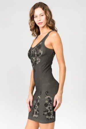M. Rena Dancing Floral Seamless Jacquard Dress