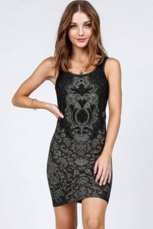 M. Rena Morocco Seamless Jacquard Dress