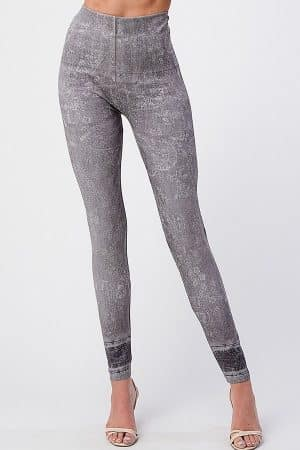 M. Rena Paisley Print Tummy Tuck Leggings