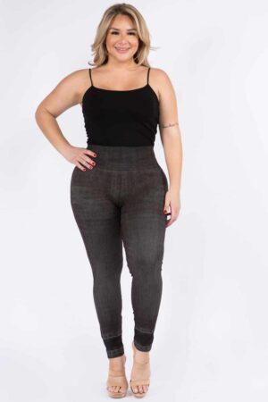 M. Rena Plus Size Denim Sublimation Legging