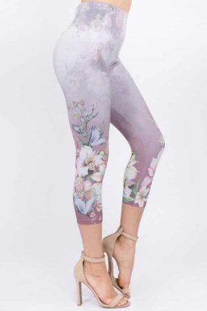 M. Rena Orchid Paisley Sublimation Crop Leggings