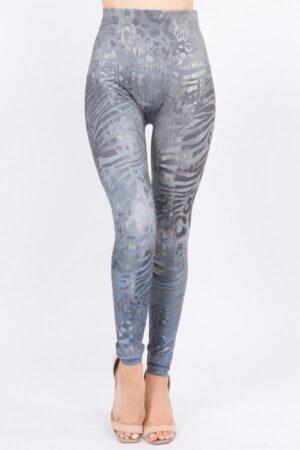 M. Rena Wild Safari Print Tummy Tuck Legging Front